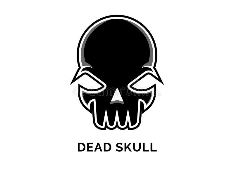 Dead Skull Logo Vector royalty free stock photography