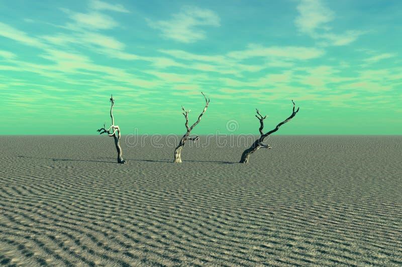 Dead Trees and Desert stock photo