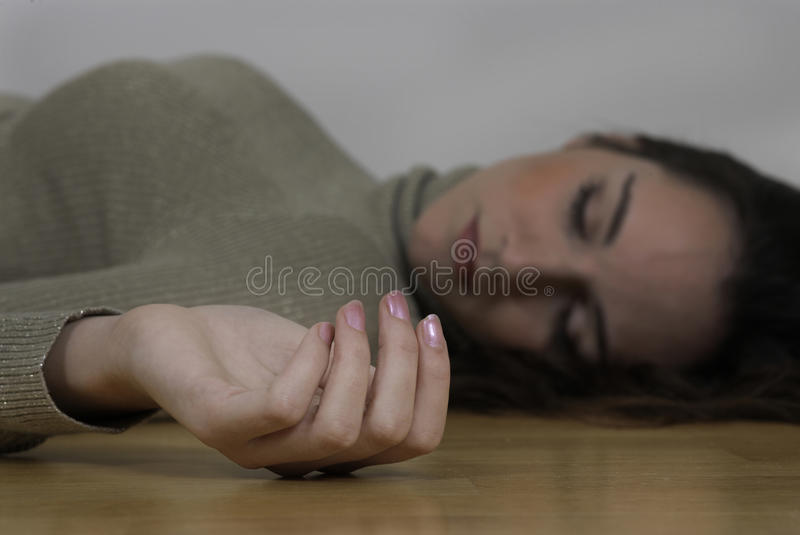 Dead woman royalty free stock images