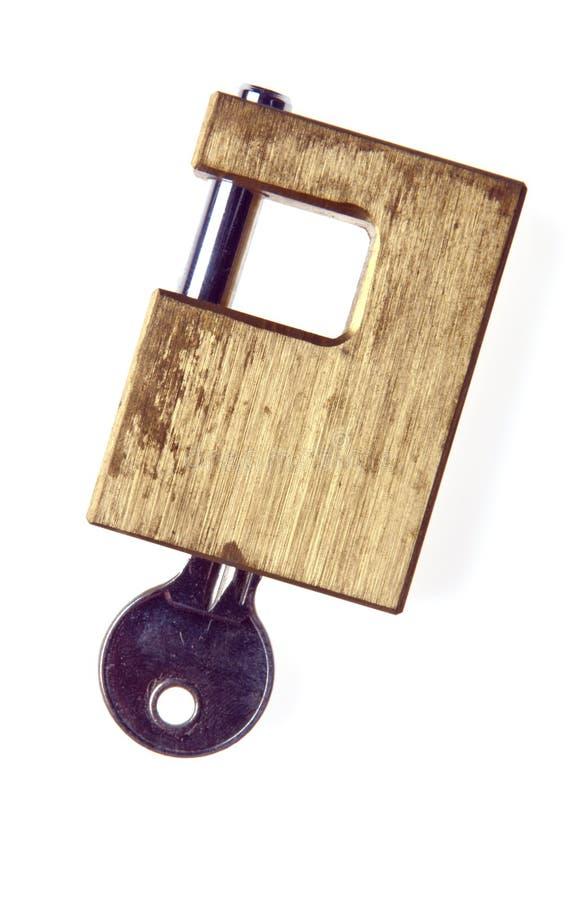 deadbolt关键锁定 库存图片