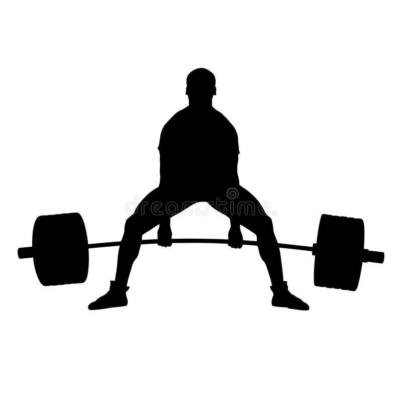 deadlift powerlifting的竞争 库存例证