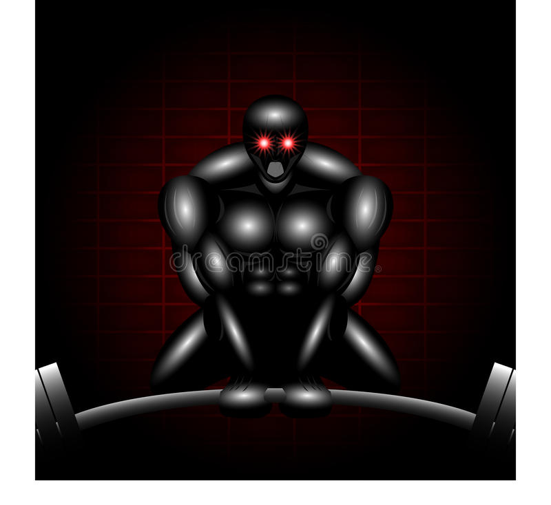 Deadlifter robótico ilustração stock