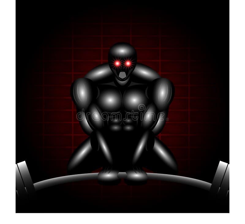 Deadlifter robot illustrazione di stock