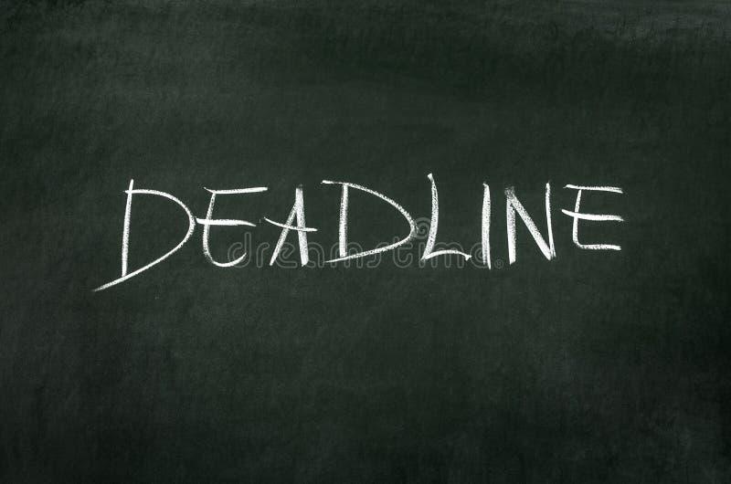 deadline zdjęcie stock