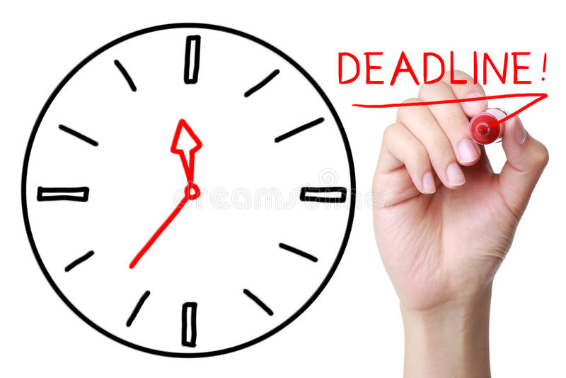deadline fotografia stock