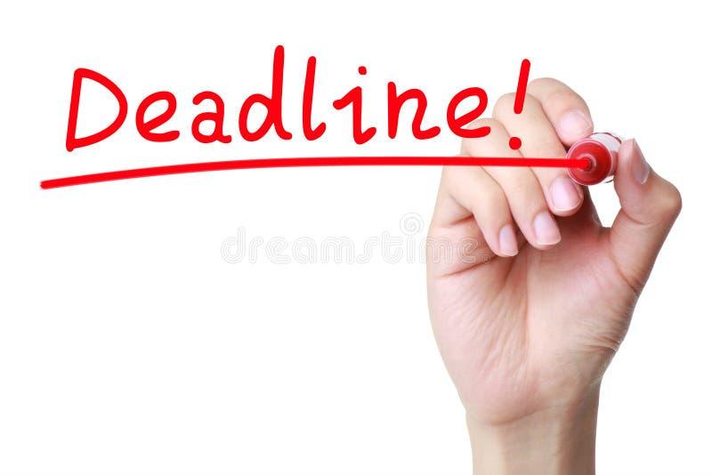deadline стоковая фотография rf