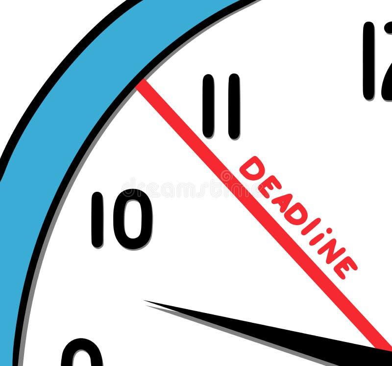 deadline vector illustratie