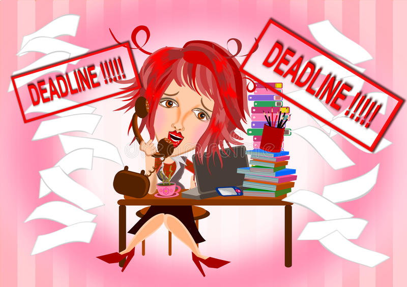 deadline иллюстрация штока