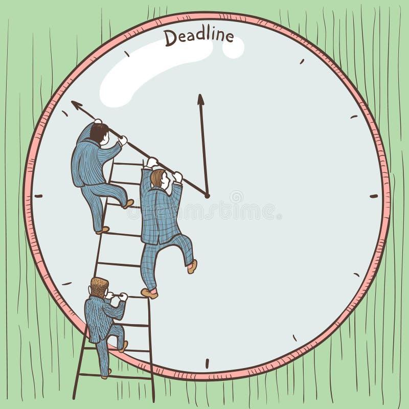 deadline иллюстрация вектора