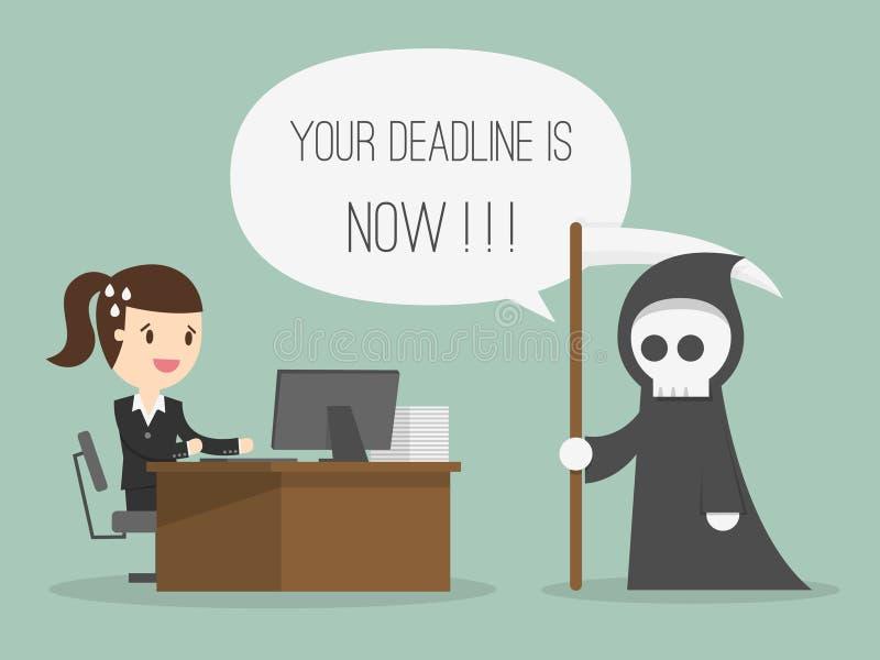deadline ilustracja wektor