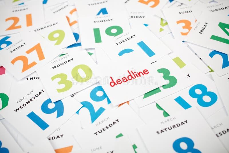 deadline royalty-vrije stock afbeelding
