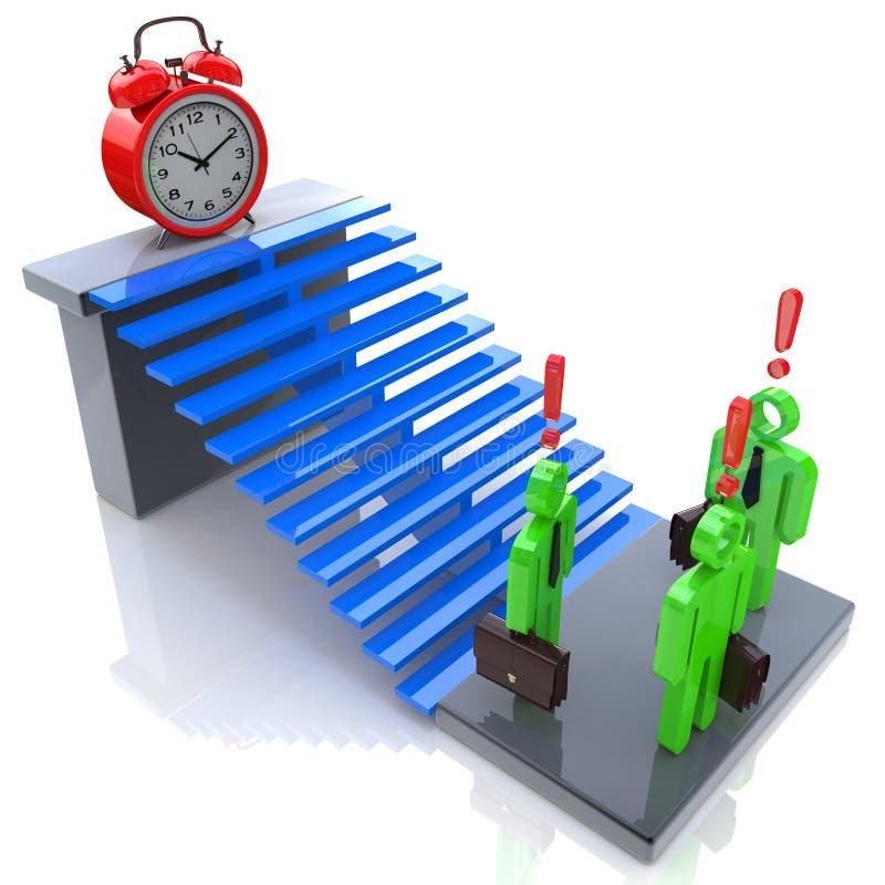 Deadline in business stock illustration