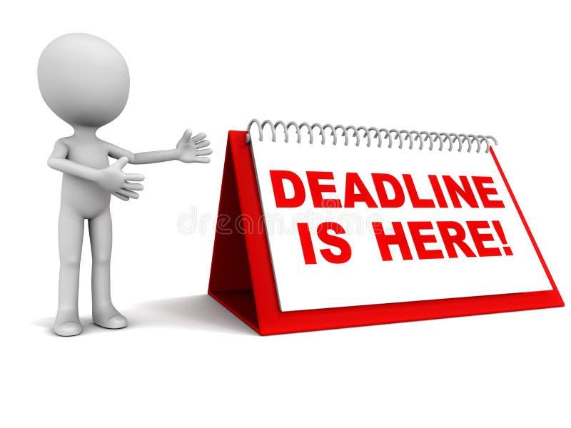 Deadline calendar stock illustration