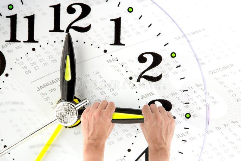 deadline mão que tenta ao tempo de parada Gestão de tempo fotografia de stock