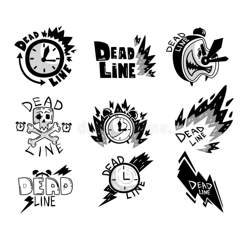 Deadline set, punctuality, time management, productivity, efficiency, business concept vector Illustration on a white vector illustration