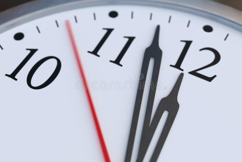Deadline and time concept. Close up view on clock showing twelve hours. 3D rendered illustration.  vector illustration