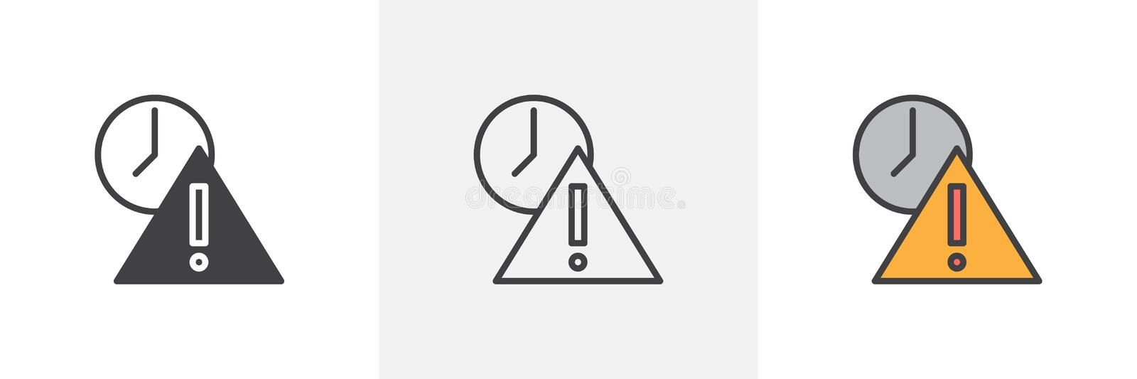Deadline warning notice icon royalty free illustration