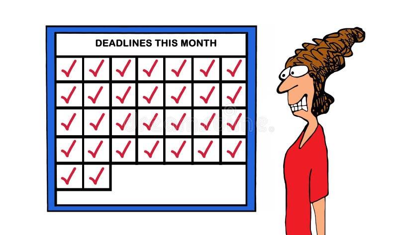 deadlines vector illustratie