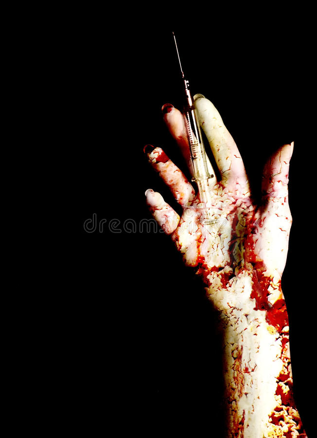 Download Deadly addiction stock photo. Image of hand, inject, dangerous - 10247676