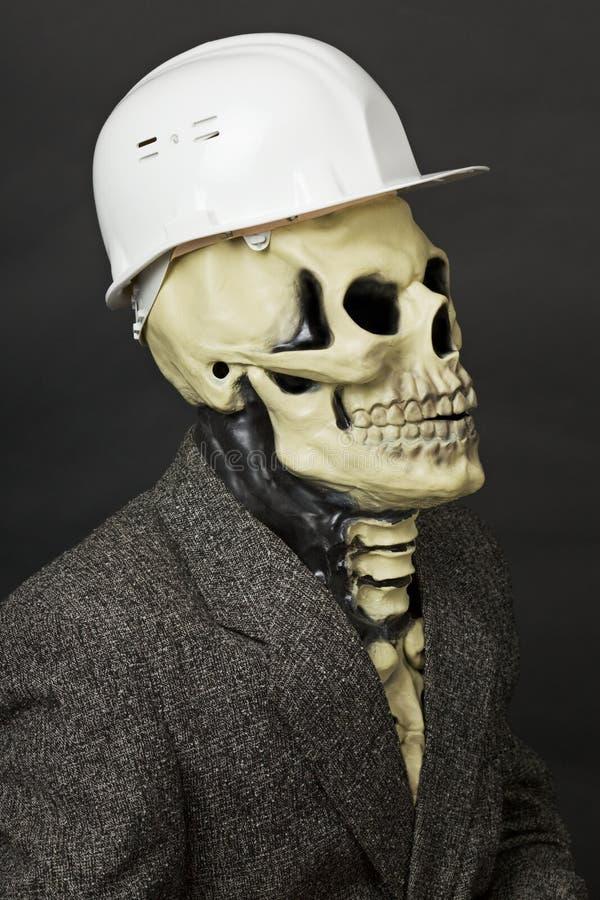 Deadly construction superintendent in helmet