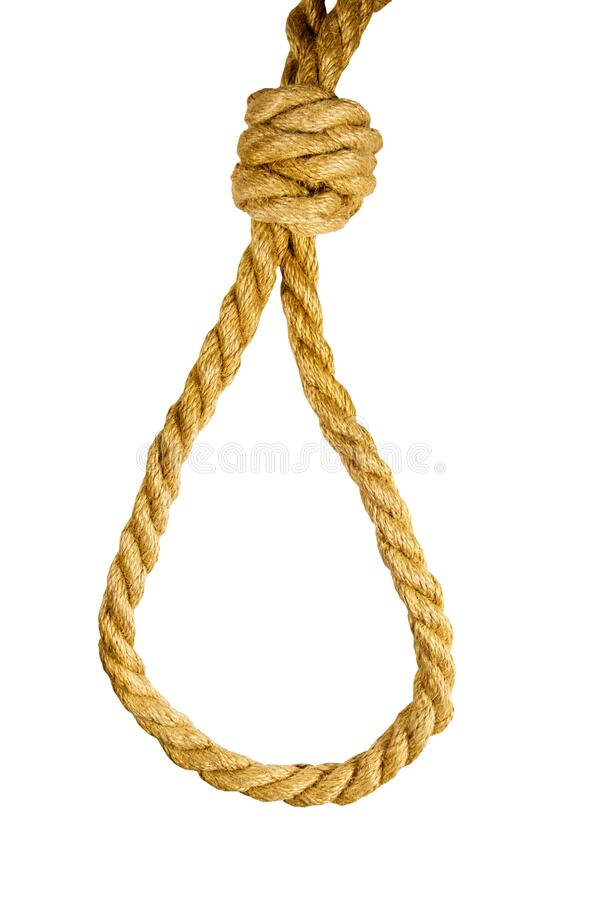 Free Deadly Loop Of Rope Isolated On White Background. Concept Of Death Penalty Or Suicide Royalty Free Stock Photos - 177321448