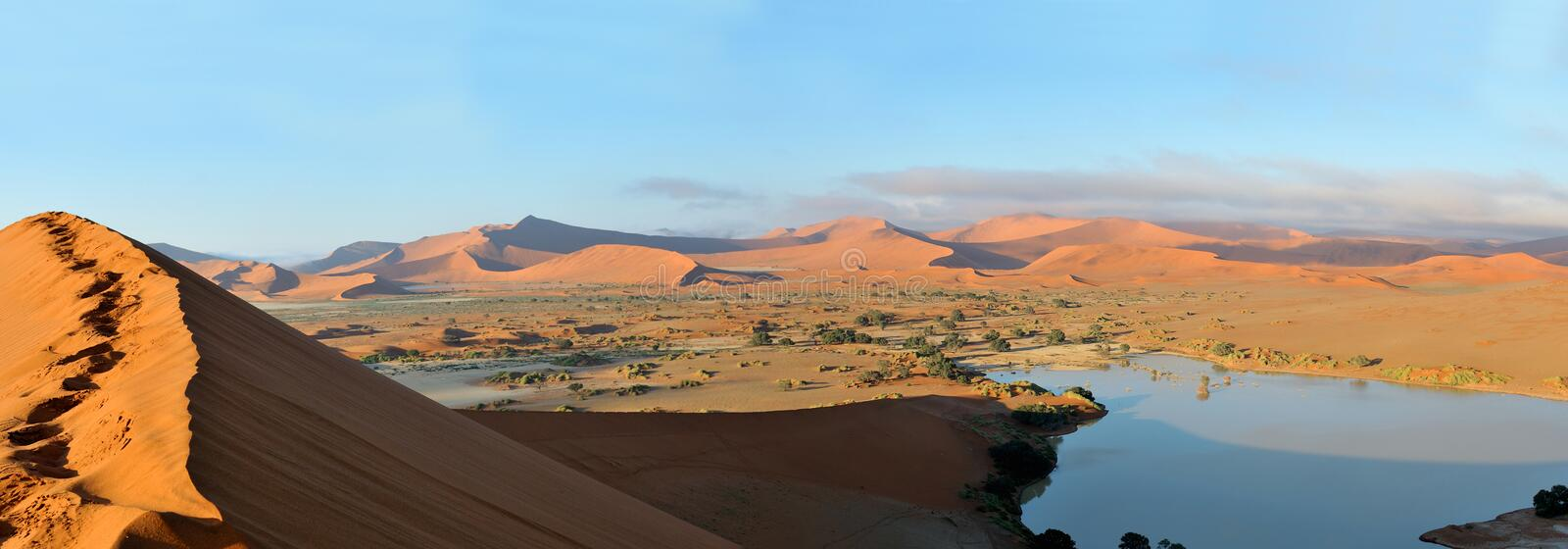 Deadvlei and Sossusvlei panorama 4 royalty free stock photography