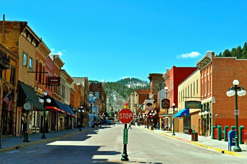 Deadwood South Dakota royaltyfri foto