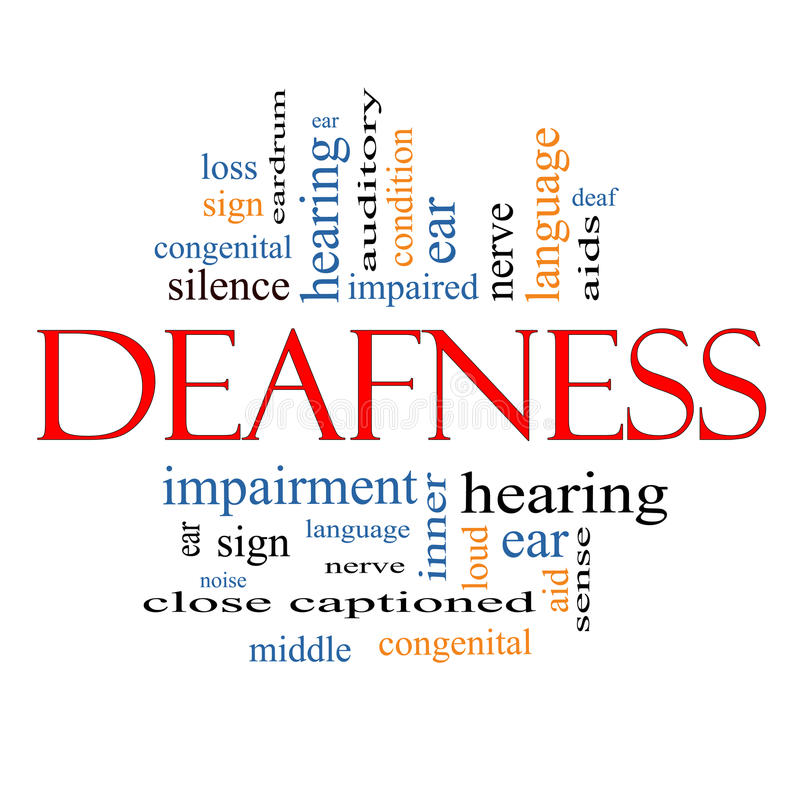 Deafness Word Cloud Concept vector illustration
