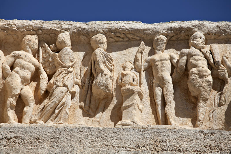 Deail from Hadrian Temple, Ephesus royalty free stock image
