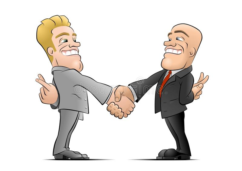 The Deal stock illustration