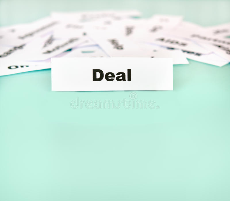 Download Deal stock photo. Image of green, color, message, text - 21874230