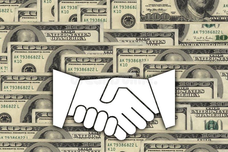 Deal against hundred dollars stock image