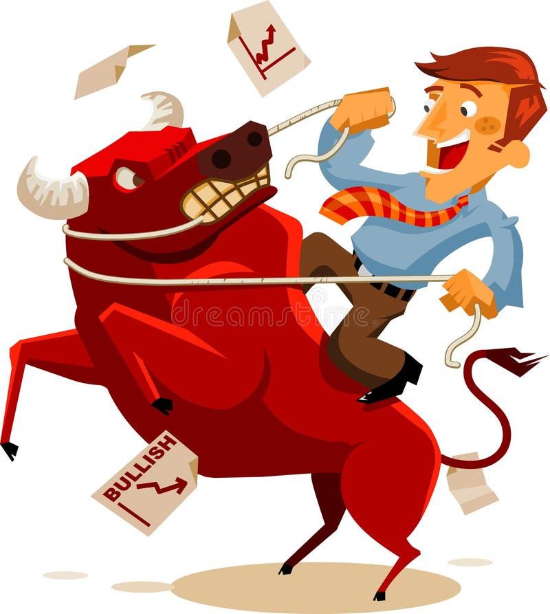 Deal with Bullish Market vector illustration