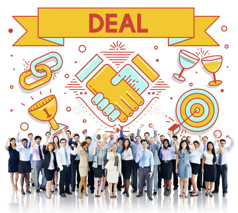 Deal Contract Solution Strategy Partnership Concept stock images