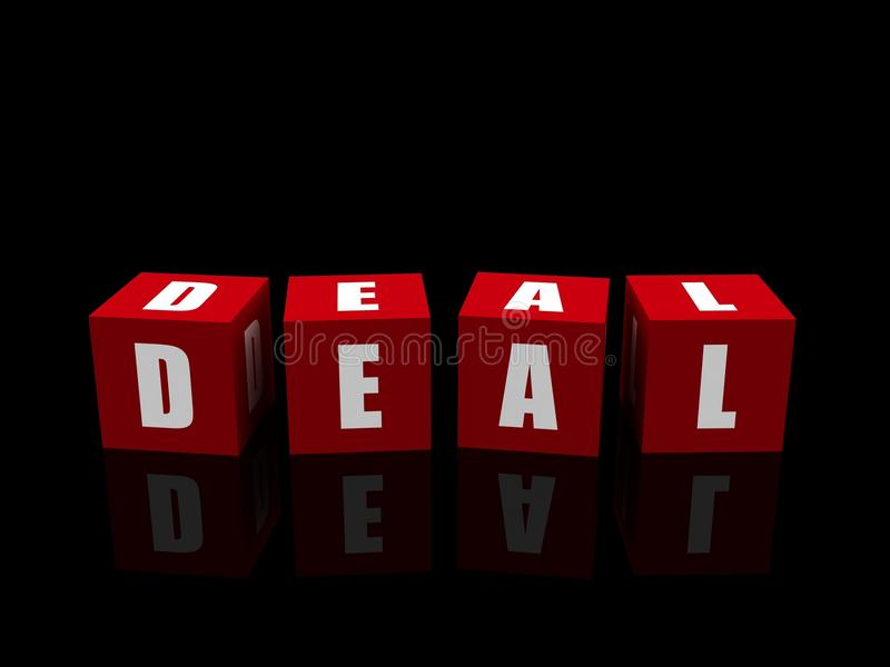 Deal on the dice stock photo