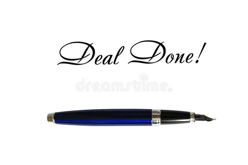 Deal done stock images