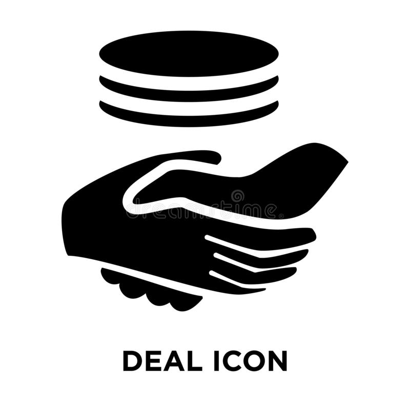 Deal icon  vector isolated on white background, logo concept of vector illustration