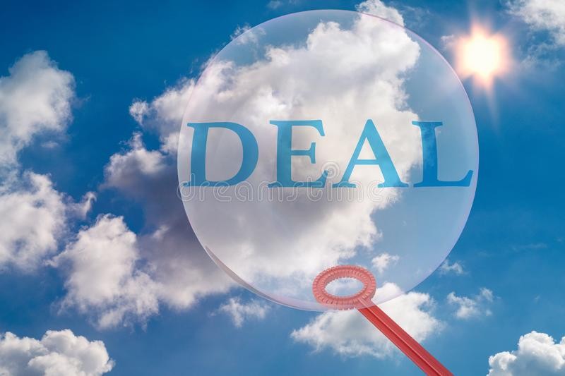A deal threatens to burst, like a soap bubble -3d  illustration stock photography