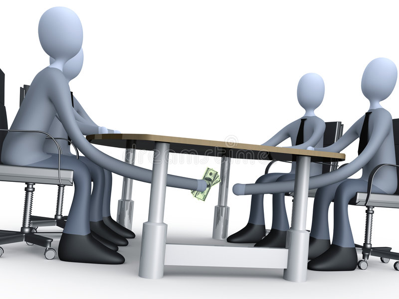 Deal Under The Table stock illustration