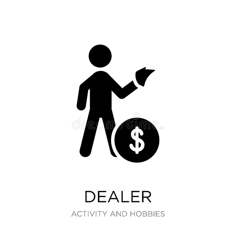 dealer icon in trendy design style. dealer icon isolated on white background. dealer vector icon simple and modern flat symbol for vector illustration