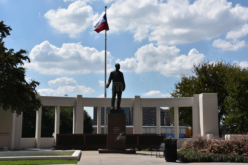 Dealey monument på den Dealey plazaen i Dallas, Texas arkivbilder