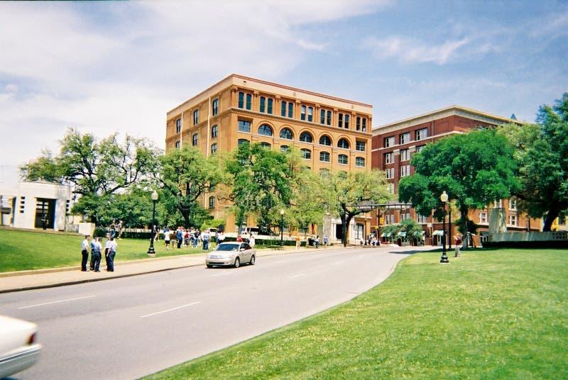 Dealey plac w W centrum Dallas Lokacja zabójstwo prezydent John F kennedy fotografia stock