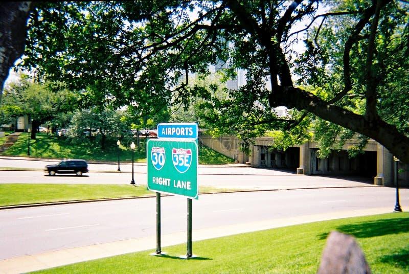 Dealey plac w W centrum Dallas Lokacja zabójstwo prezydent John F kennedy obrazy royalty free