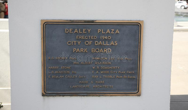 Dealey placu markier Dallas, Teksas fotografia royalty free
