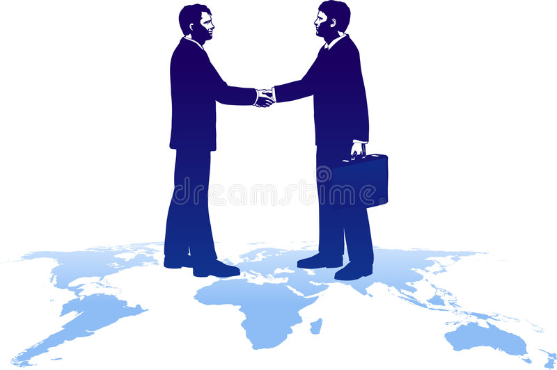 Download Deals All Over The World stock vector. Image of handshake - 7072578