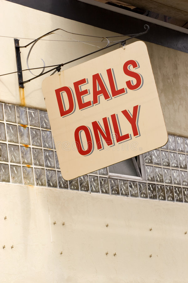 Download Deals Only Sign Royalty Free Stock Images - Image: 314999