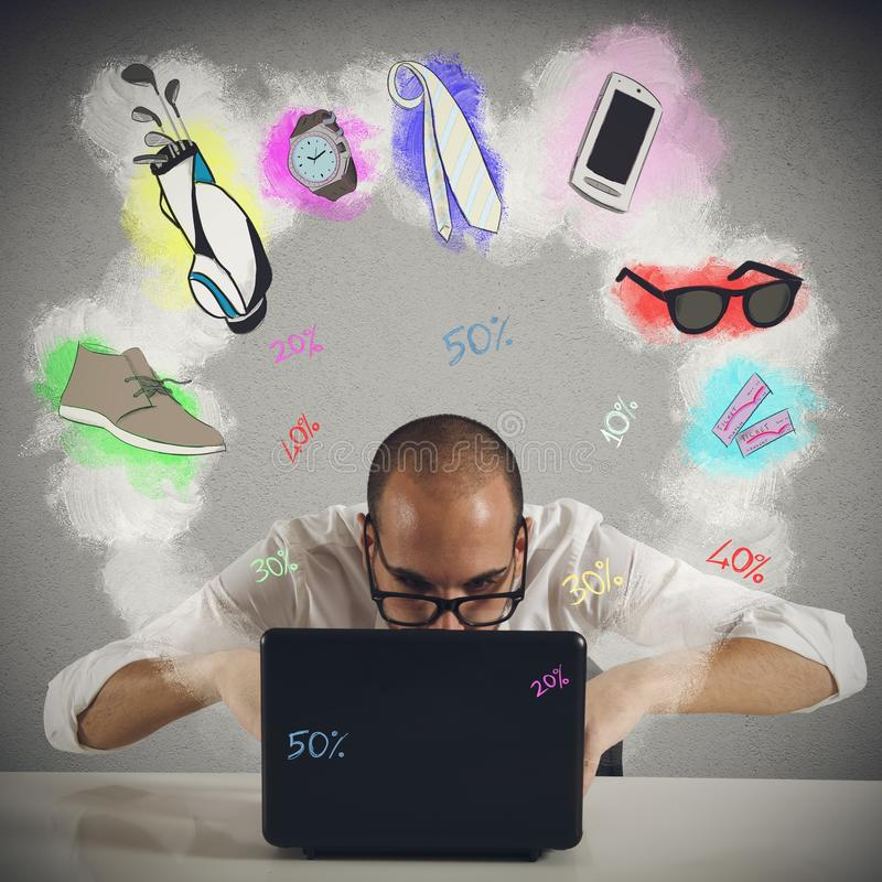 Free Deals With Online Shopping Royalty Free Stock Image - 52114676
