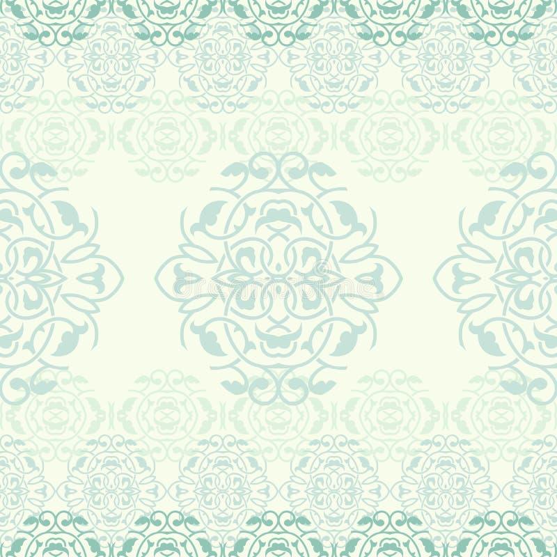 Deamless modell för dekorativ bakgrundsvektor royaltyfri illustrationer