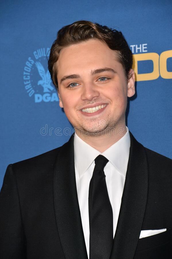 Dean-Charles Chapman. LOS ANGELES, USA. January 25, 2020: Dean-Charles Chapman at the 72nd Annual Directors Guild Awards at the Ritz-Carlton Hotel..Picture: Paul royalty free stock photos