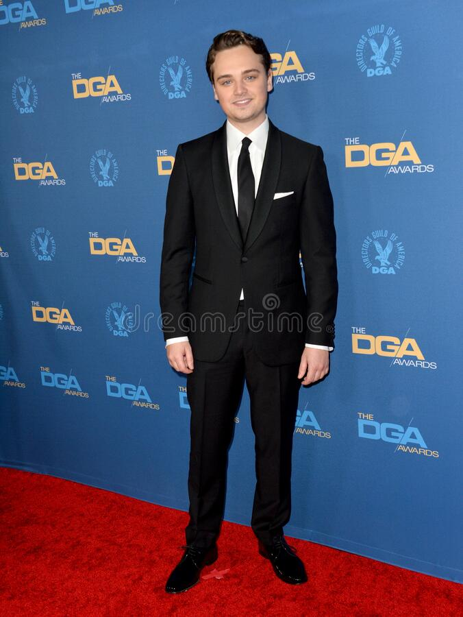 Dean-Charles Chapman. LOS ANGELES, USA. January 25, 2020: Dean-Charles Chapman at the 72nd Annual Directors Guild Awards at the Ritz-Carlton Hotel..Picture: Paul stock photo